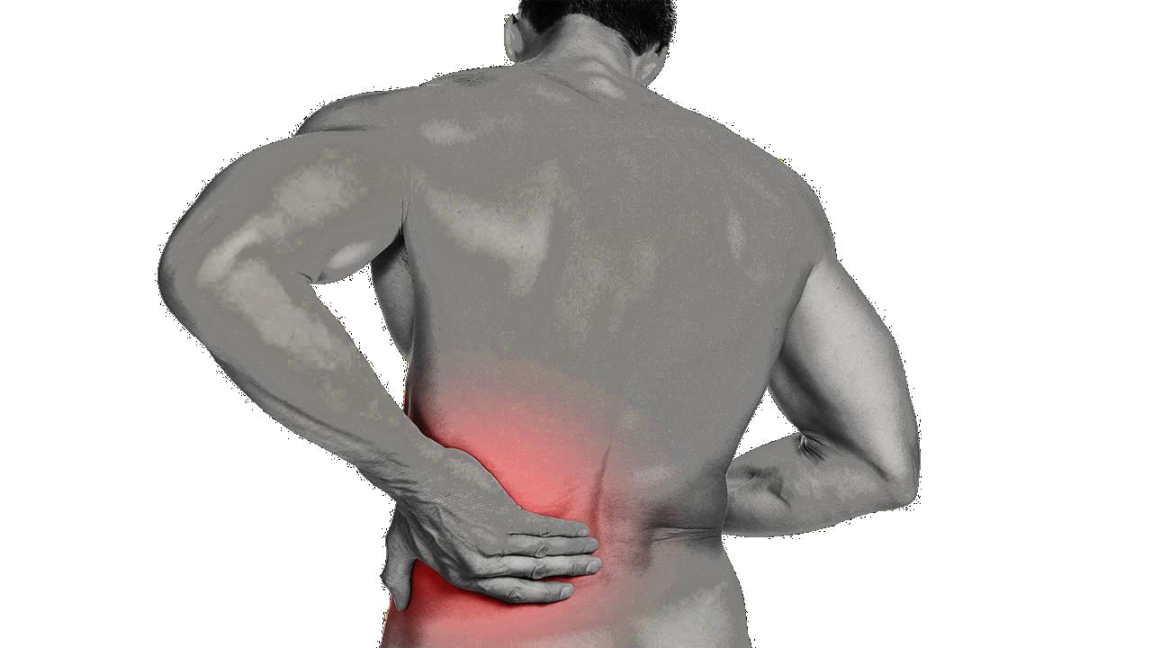 תמונה המתארת את נקודת כאב הגב התחתון